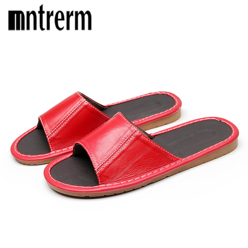 Mntrerm 2018 New Household Sheepskin Slippers Spring And Summer Women Comfort Home Slippers Indoor Wooden Floor Sandal