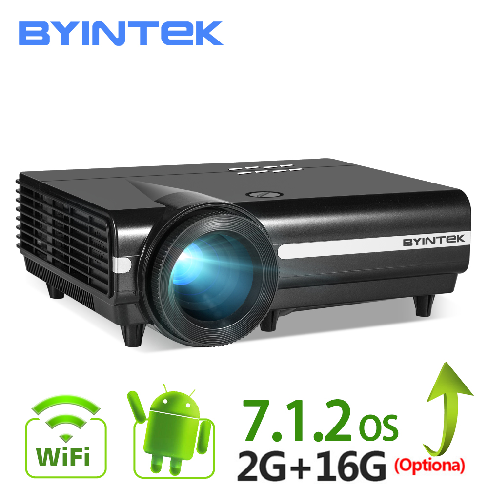 BYINTEK AY BT96Plus Android Wifi Akıllı Video led projektör Proyector Ev Sineması Için Full HD 1080 P Destek 4 K Online video