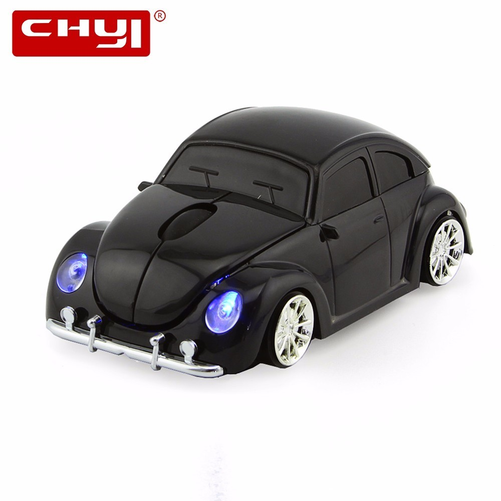 CHYI Wireless Mouse VW Beetle Economy Car Shape 2.4Ghz Optical Superbug Mice With LED Flash Light 1600 DPI bug For PC Notebook