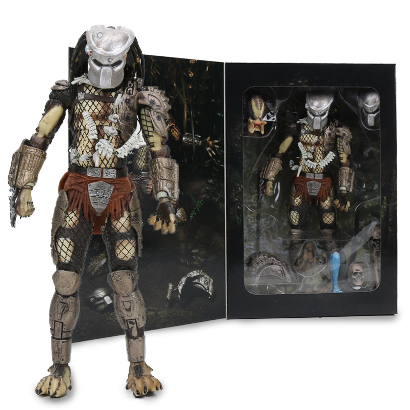7.8 NECA Predator Ultimate 30th Yıldönümü Jungle Hunter PVC Action Figure Jungle Hunter Maskesiz Koleksiyon Model oyuncak bebekler
